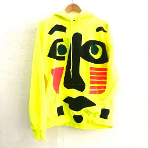 fluo yellow hoodie