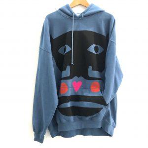indigo blue hoodie