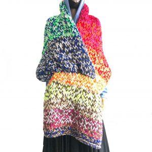multicolor shawl window shopping